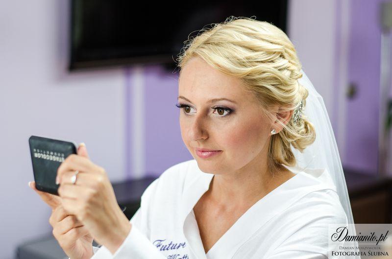 Makijaż śluby fiolety